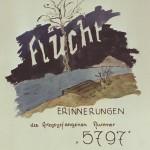 Flucht aus Lager Potulice - das Deckblatt der handschriftlichen Version